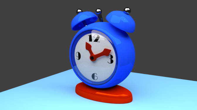Another classic 3D Model: The Alarm Clock