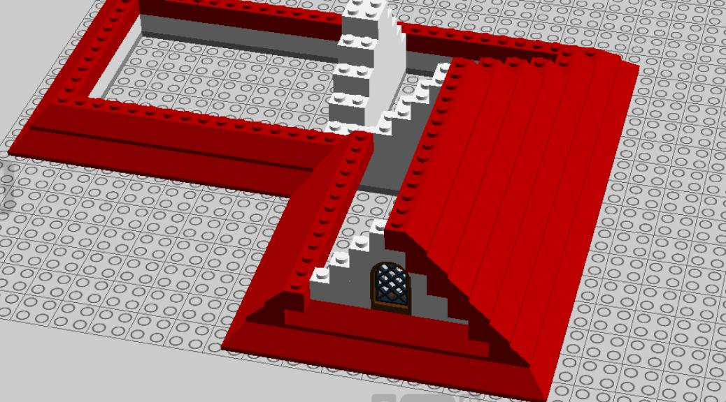 Basic LEGO Roof with LDD (based on Youtube tutorial