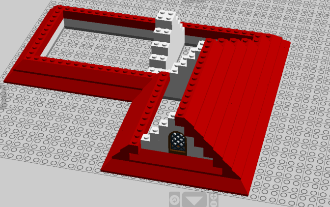 Basic LEGO Roof with LDD (based on Youtube tutorial)