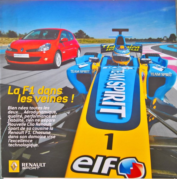 Collection Renault Sport (Renault F1, WSR, Megane RS…)